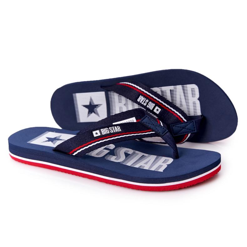 Women's Flip-flops Big Star HH274A059 Navy Blue