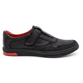 Polbut Men's casual leather shoes 2102 black