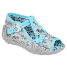 Befado children's shoes 213P127 blue grey