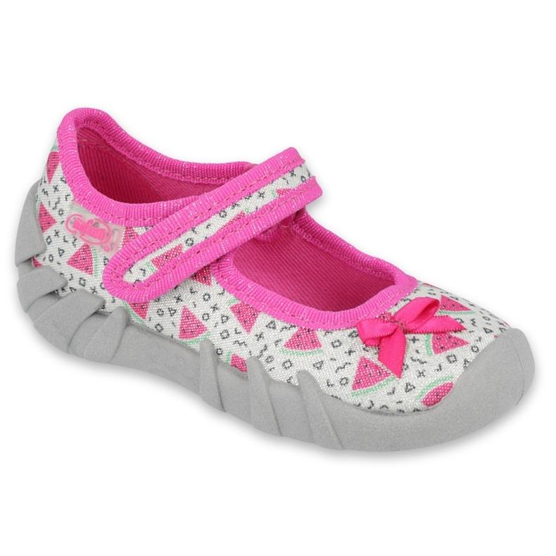 Befado children's shoes 109P216 pink grey