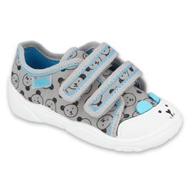 Befado children's shoes 907P129 black blue grey