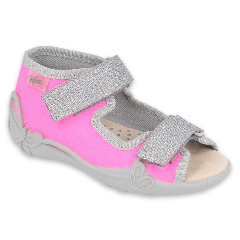 Befado children's shoes 342P032 violet grey