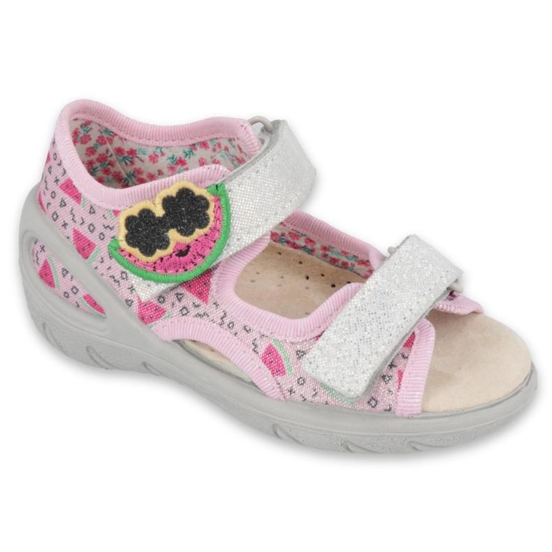 Befado children's shoes pu 065P152 pink grey