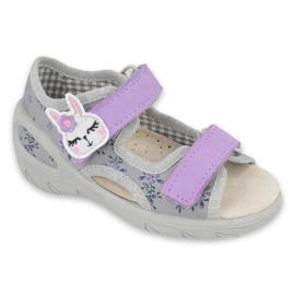 Befado children's shoes pu 065P150 violet grey