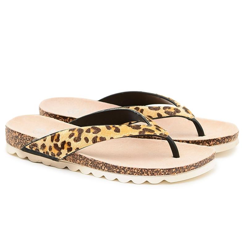 Flip-flops On Cork Lu Boo Leopard brown