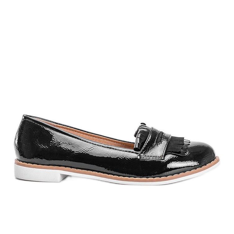 Black Perfect Lady lacquered loafers