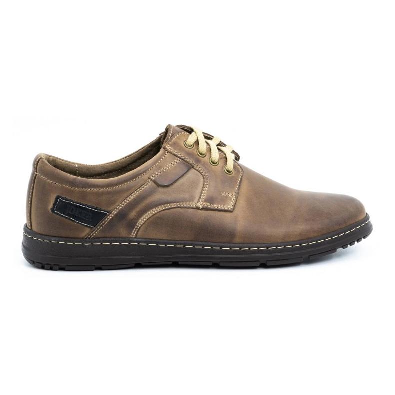 Joker Men's leather shoes 536J brown