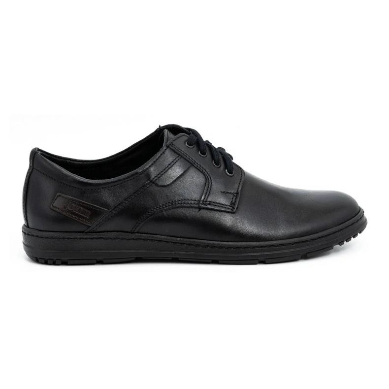 Joker Black men's leather shoes 536J