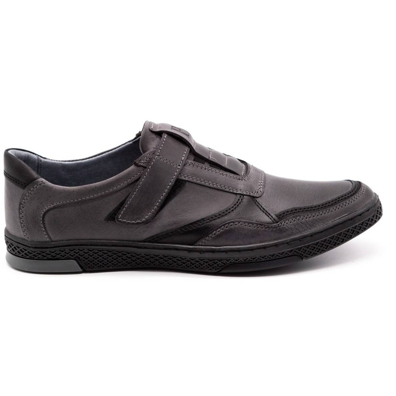Polbut Men's casual leather shoes 2102 gray grey
