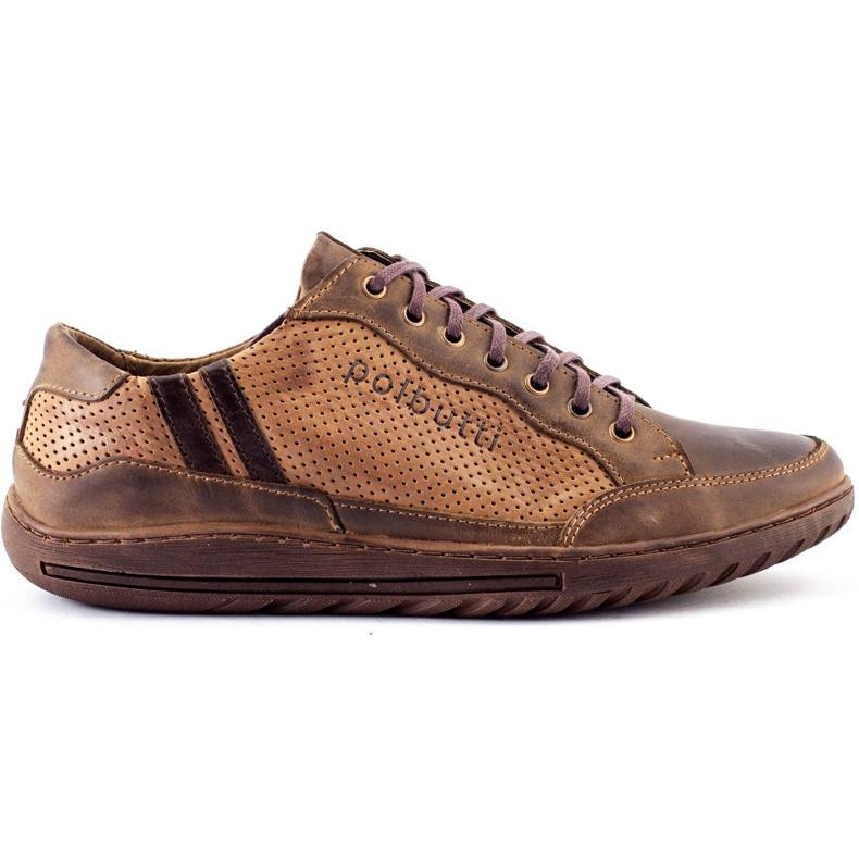 Polbut JOK31 brown casual men's shoes