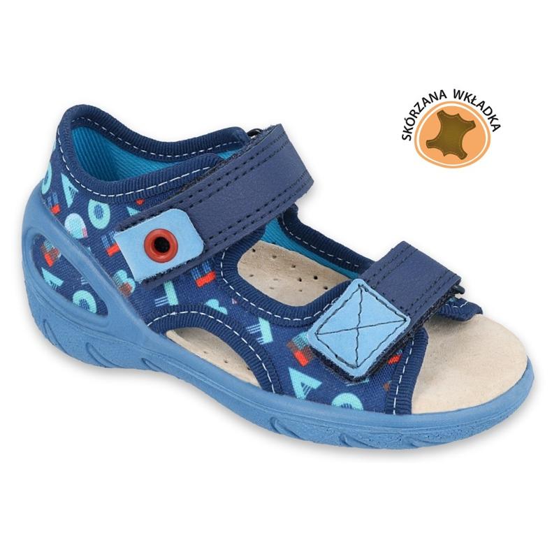 Befado children's shoes pu 065P161 navy blue