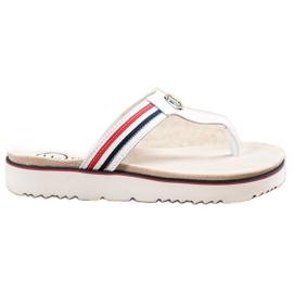 Filippo Leather Flip Flops white