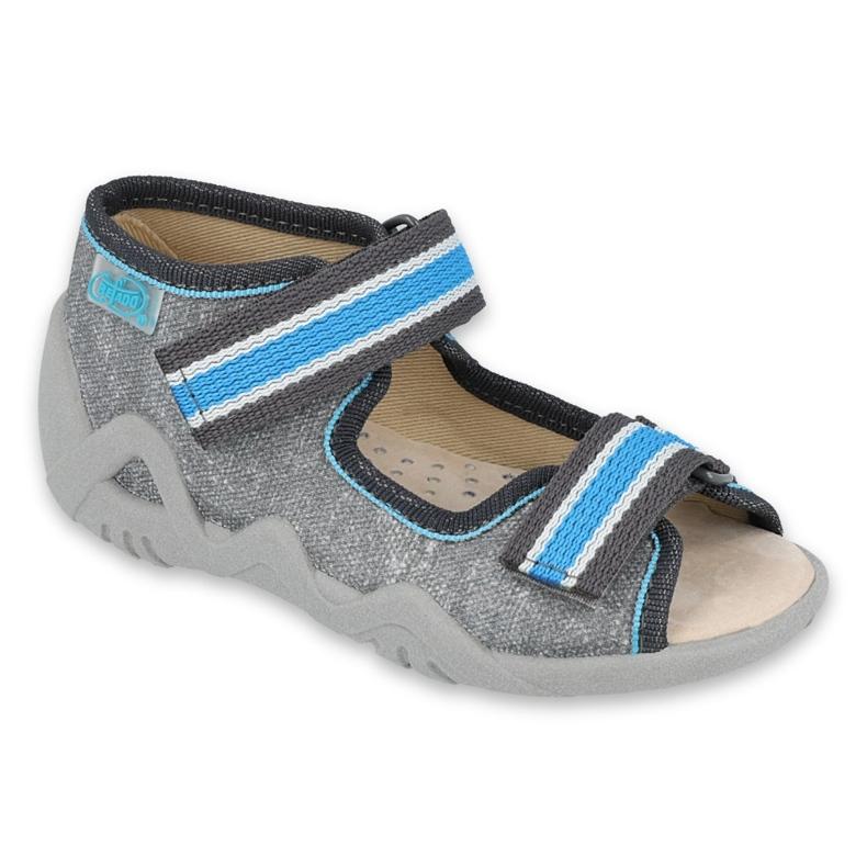 Befado yellow children's shoes 350P026 blue grey
