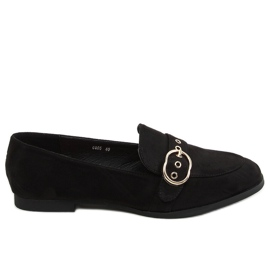 Black Women's black loafers GQ05 Black
