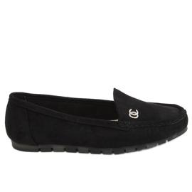 Black Women's black loafers GS14P Black