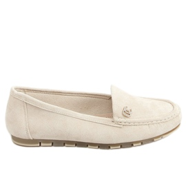Women's loafers light beige GS14P Beige