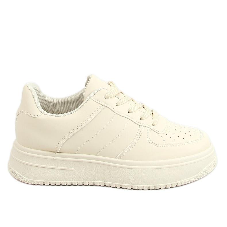 Women's beige sports shoes G191 Beige