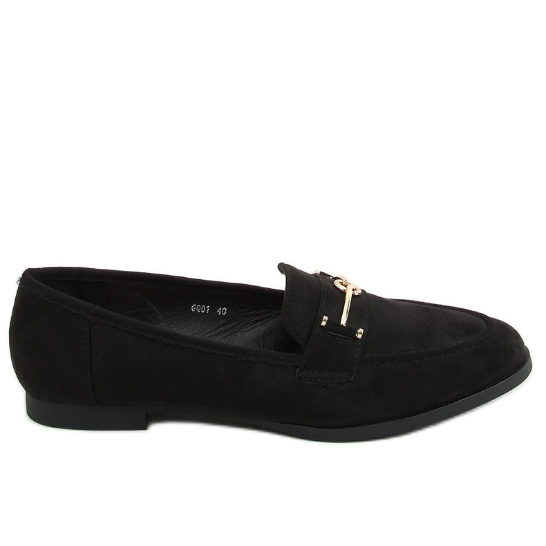 Black women's loafers GQ01 Black