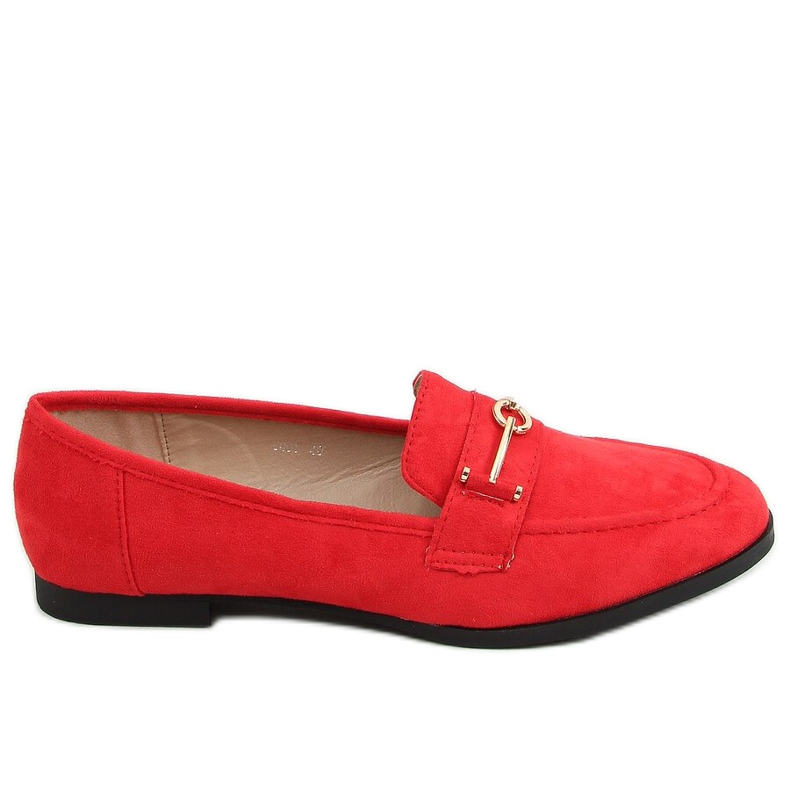 Red women's loafers GQ01 Red