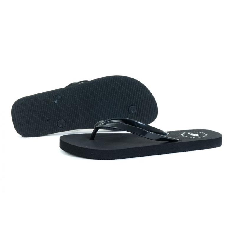 4F W H4L21-KLD005 Black Flip Flops