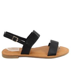 Black women's sandals FF-505 Black