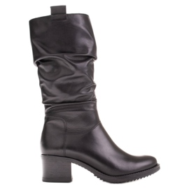 Marco Shoes Marco women's leather boots black