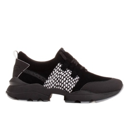 Marco Shoes Sports sneakers made of high-quality natural suede black