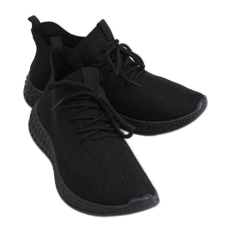 Black PC01 All Black socks sports shoes