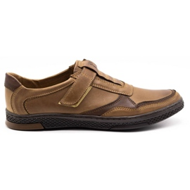 Polbut Men's casual leather shoes 2102 brown