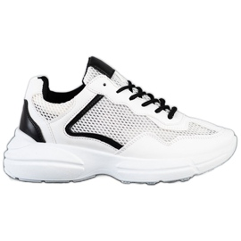 SHELOVET Sneakers With Mesh white