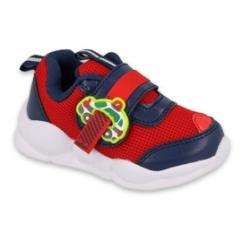 Befado children's shoes 516P095 red navy blue