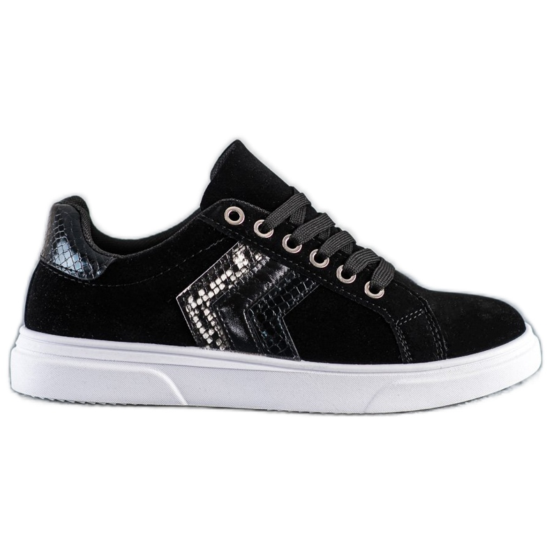 SHELOVET Suede Sneakers black