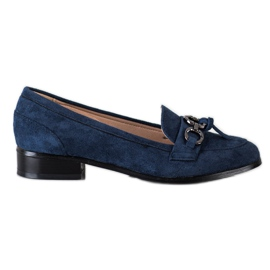 VINCEZA flat heels loafers navy blue blue