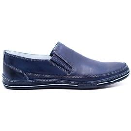 Polbut Men's shoes slip 2107 navy blue