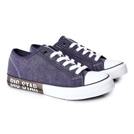 Men's Big Star HH174047 Navy blue sneakers