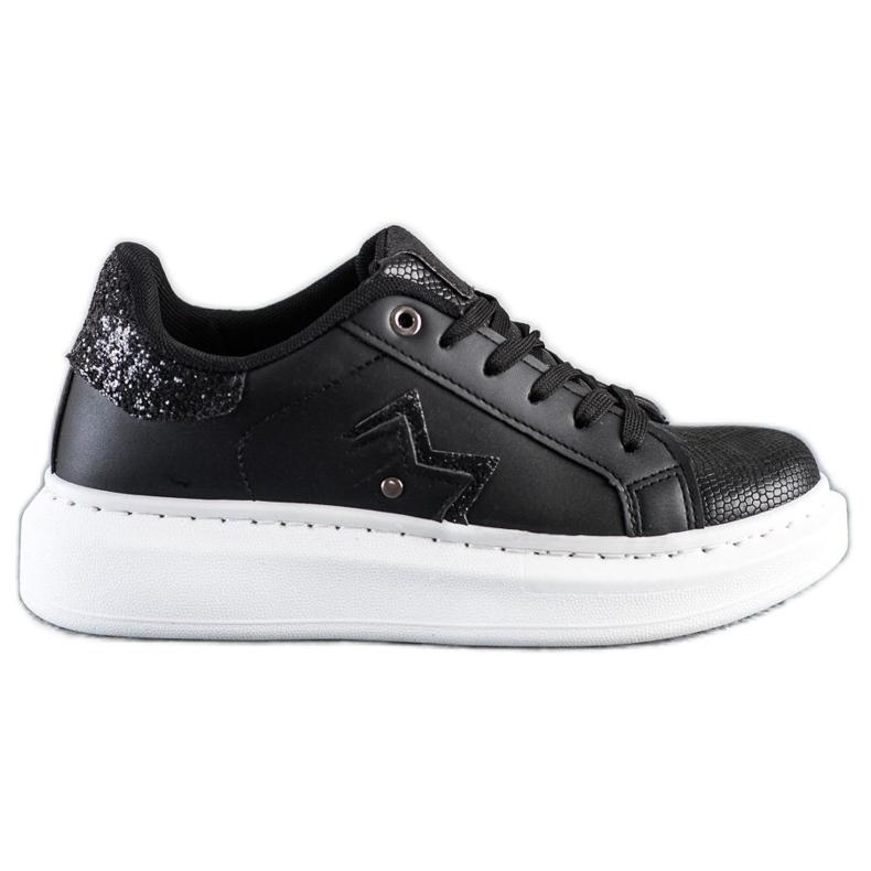 SHELOVET Stylish Sneakers On The Platform black
