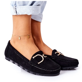 PS1 Women's Black Downtown Suede Loafers
