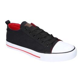 Black American Club LH26 / 21 Sneakers red