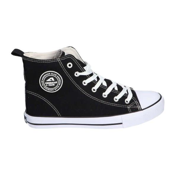 American Club LH01 / 21 black high-top sneakers