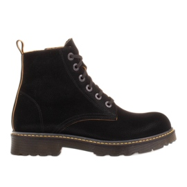 Marco Shoes High ankle boots, boots tied on a translucent sole black