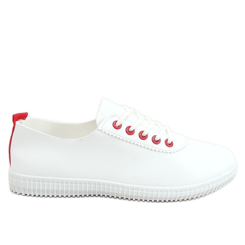 Women's sneakers white and red JF-873 Red