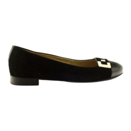 Ballerinas women's leather shoes with a silver Edeo buckle