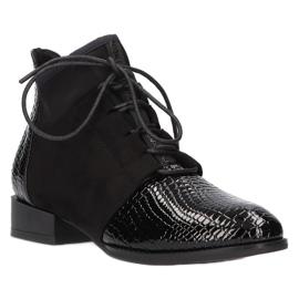 Women's Boots Leather Filippo Black DBT3034 / 21 BK
