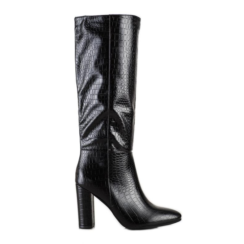 Seastar Snake Print boots black