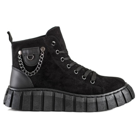 Seastar Suede Sneakers With A Chain black