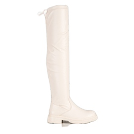 Seastar Fashionable beige boots with eco leather