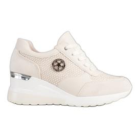 SHELOVET Light Wedge Sneakers beige