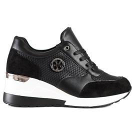 SHELOVET Light Wedge Sneakers black