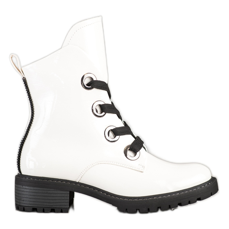 VINCEZA lace-up boots white