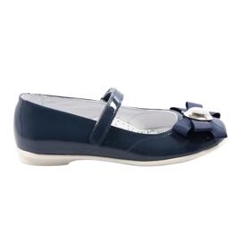 Ballerinas children's shoes Bartek 45418 navy blue multicolored white